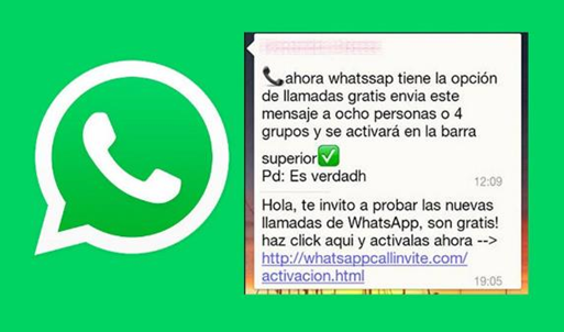 noticias falsas en internet .whatsapp